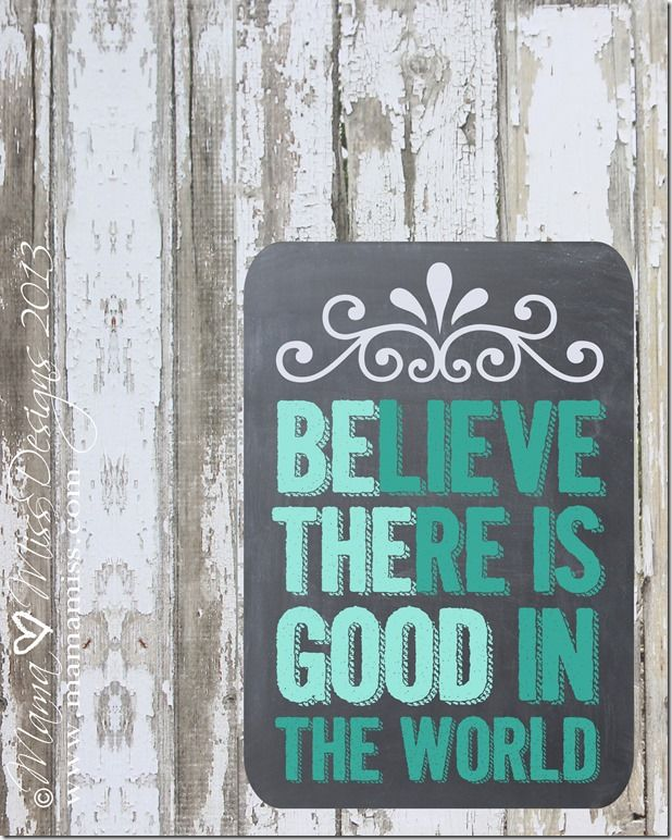 Be The Good Print #freeprintable #chalkboard @mamamissblog