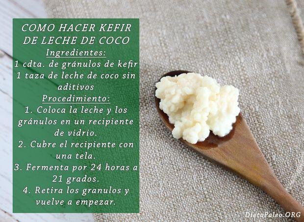 Como preparar kefir de leche de coco - Dieta Paleo