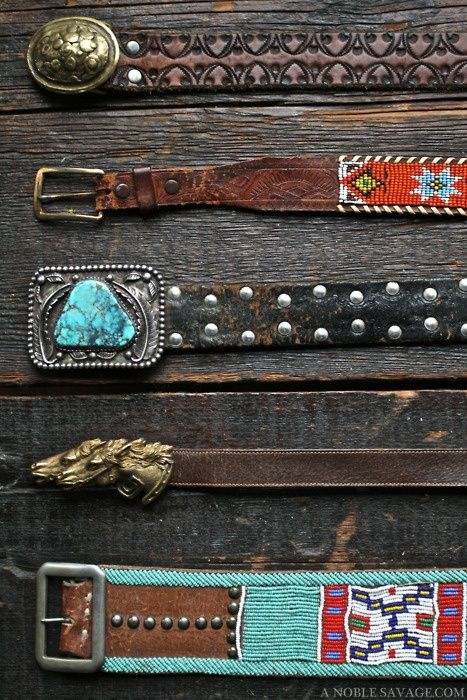 A Keeper ... turquoise and leather belts. Love the second and last on, fourth is cool too!!