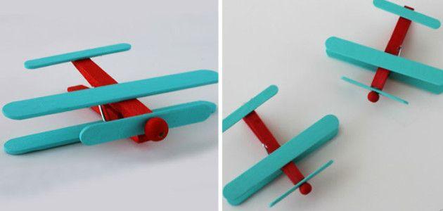 Avión con palitos de helado #manualidades