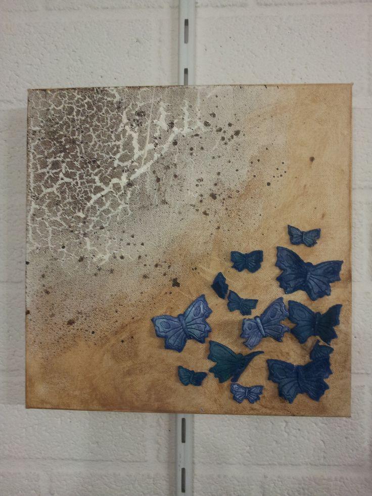 Schilderij met powertex en stone art