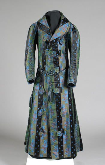 Man's dressing gown, circa 1840, United States via Litchfield Historical Society