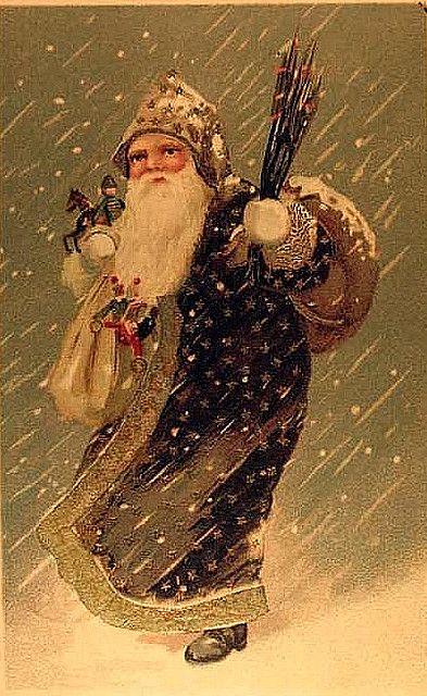 vintage Santa postcard...