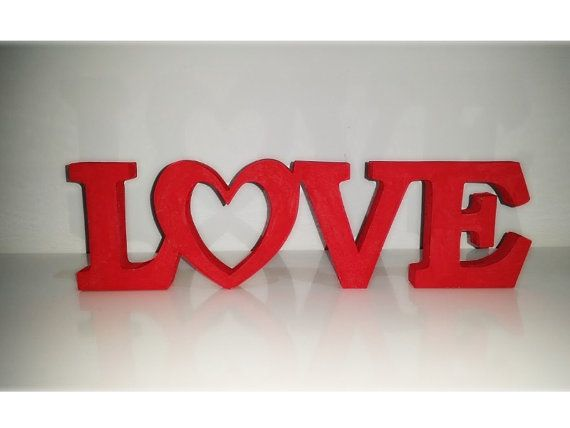 Wood Word Sign Love Wooden Word Art Word Sign by WordsfromWales