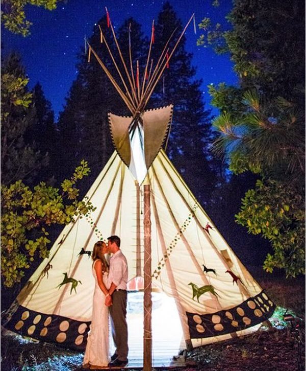 Unique wedding venue that you haven't thought of - whole family could stay in the tee pees overnight!