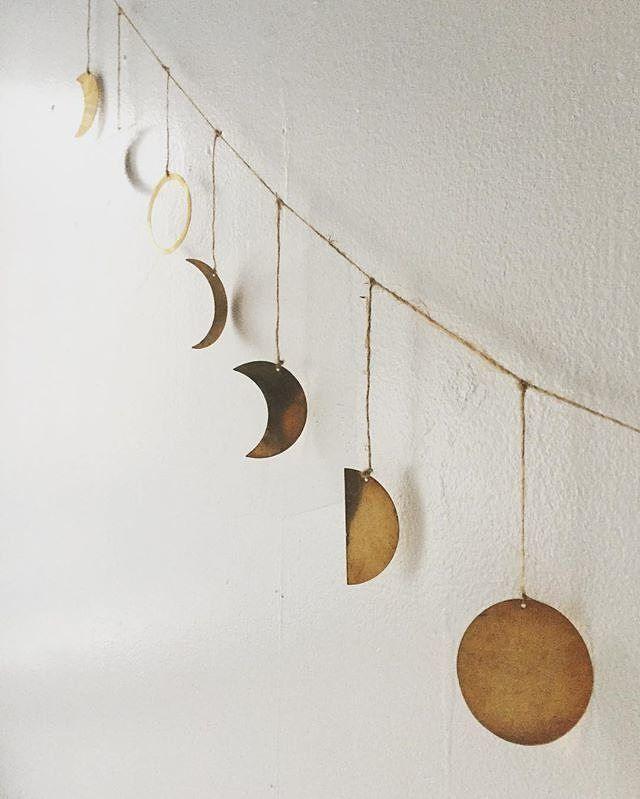 ❤️ Moon Phase Garland from #YVR Local shop #nineteentenhome 📷 @nineteentenhome