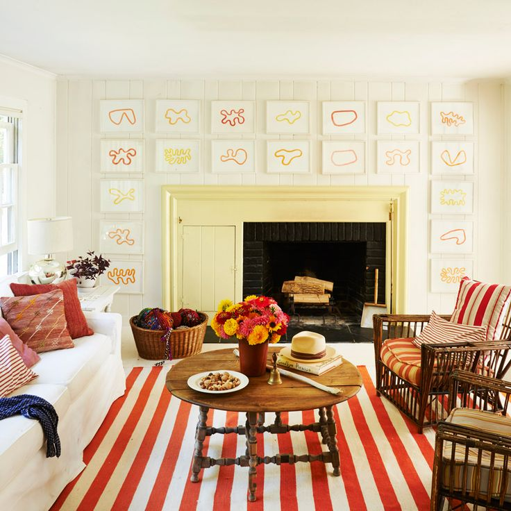 20 Ways To Decorate With Orange And Yellow East HamptonLiving Room