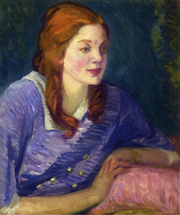 John French Sloan ~  'Carol with Red Curls', 1913