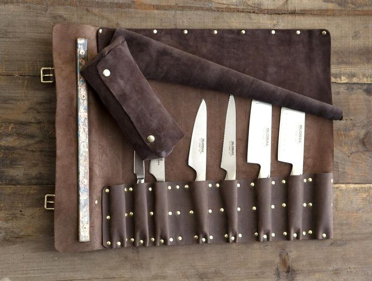 Knife Rolls | Order Custom Leather Knife Sheaths | (if we ever know someone who's a relatively serious chef)