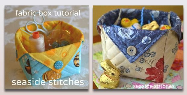 Perfect Project for 10″ Layer Cakes! These little fabric boxes from Seaside Stitches are a breeze to make! You'll find endless uses for them. Use them in the sewing room for organizing this and that, fill them with goodies and give as gifts, hand them out to guests at wedding and baby showers … Good …