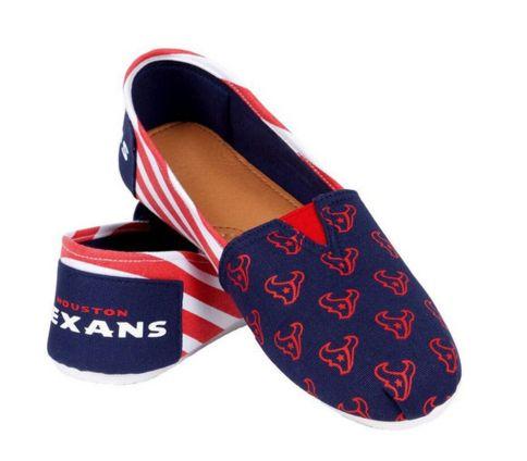 Houston Texans Official NFL Stripe Canvas Shoes