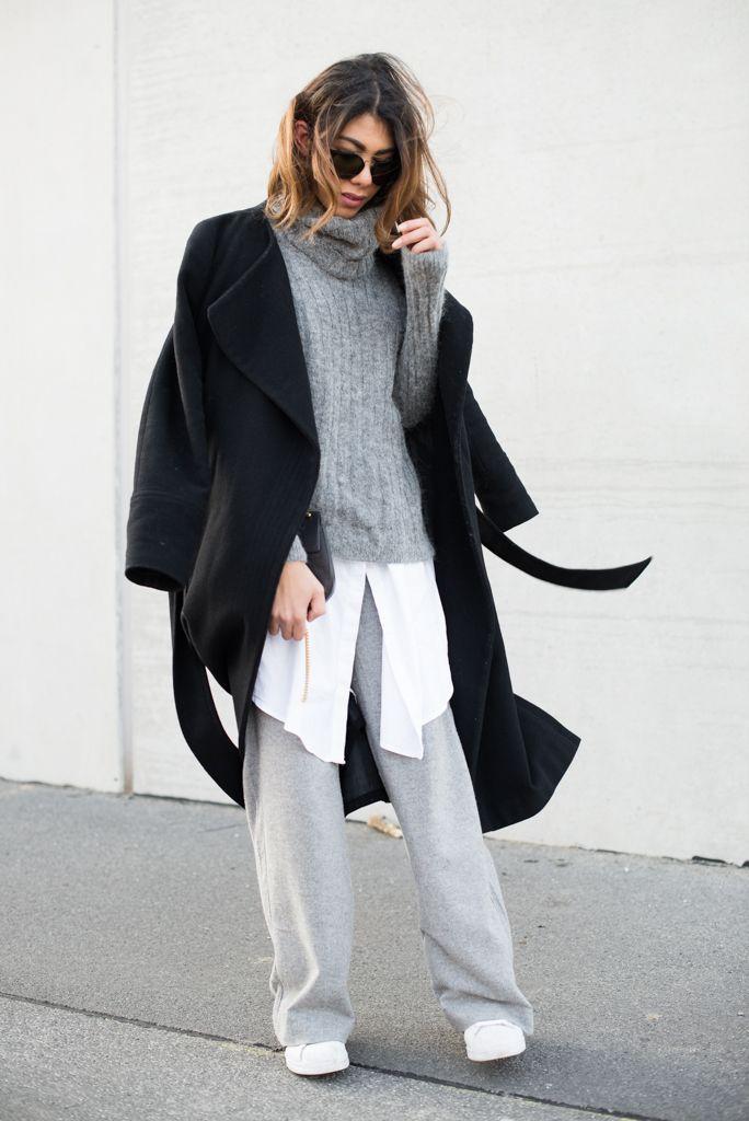 Eine klassische Wollhose darf auf keinen fall in einem minimalistischen Kleiderschrank fehlen. Ich zeige heute eine Winterkombination mit einer Wollhose.