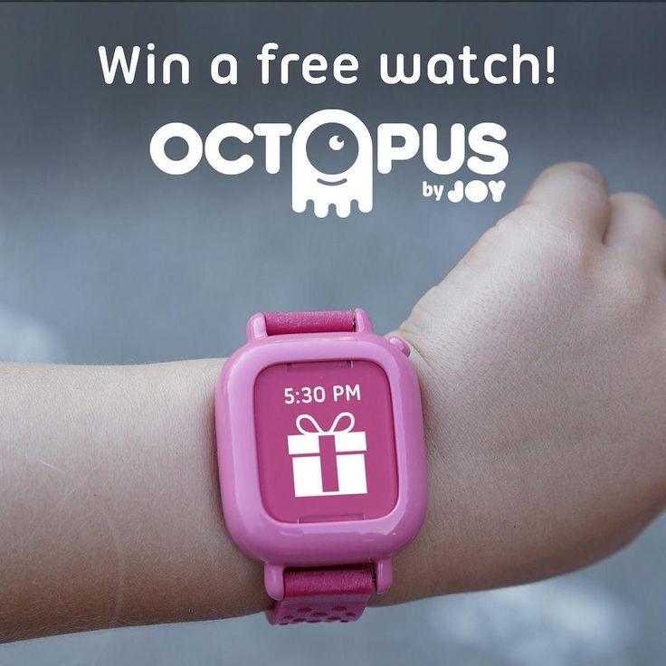 Win a free Octopus watch!. Link in bio. #hardware #hax #makersgonnamake #maker #smartwatch #iot #startup #kid #kidrobot #familytech #wearable #adhd #asd #iconbasedwatch by joyfamilytech