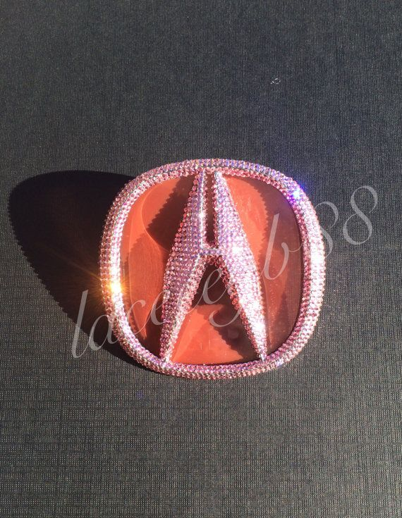 Light Pink Bling Acura TL Emblem by laceeeyb88 on Etsy
