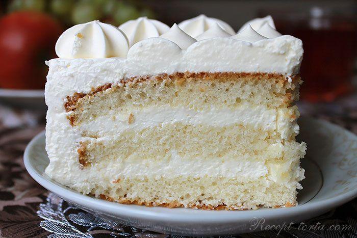 Торт с кремом Пломбир