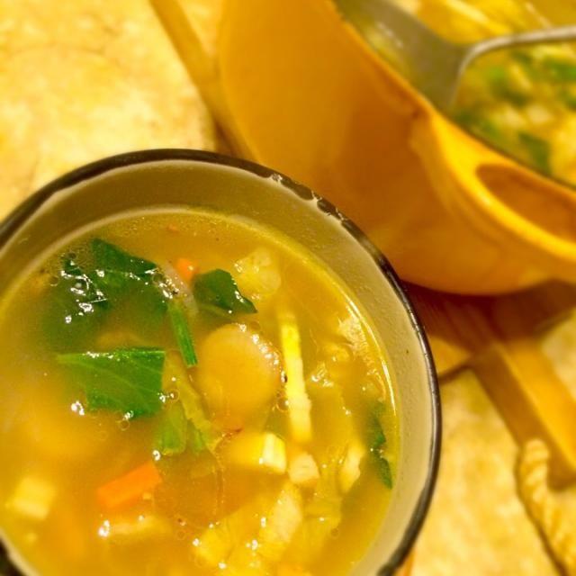 寒い日は温かいスープよね(*^_^*)❤️ - 24件のもぐもぐ - 押し麦とゴボウ、レンズ豆のスープ by MIEKO 沼澤三永子