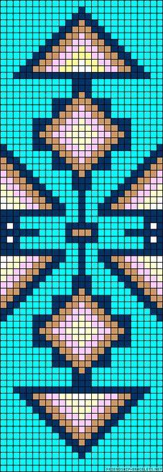 Strings: 26 Colors: 7 Rows: 72 FriendshipBracelet Aztec #A57512