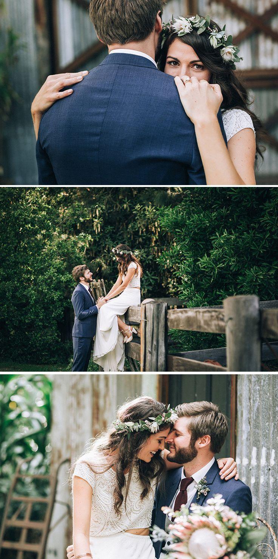 Claire & Robbie's Boho Nation Wedding ceremony with Native Flowers