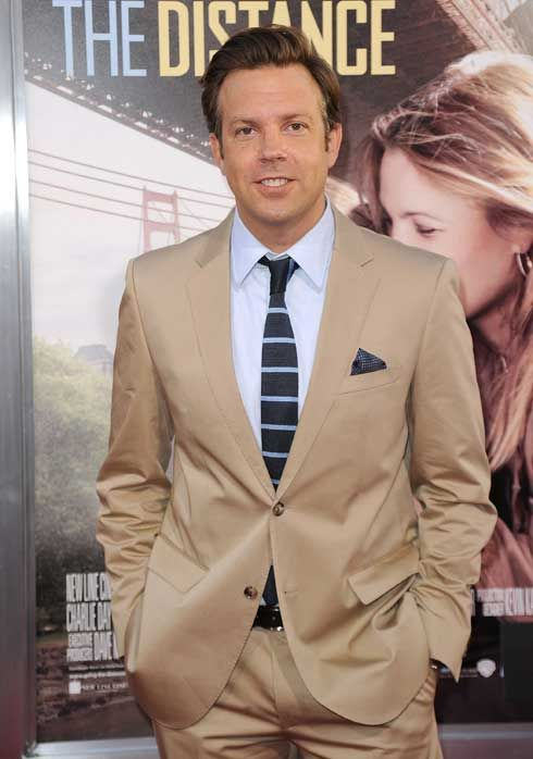 tan tuxedo with skinny tie
