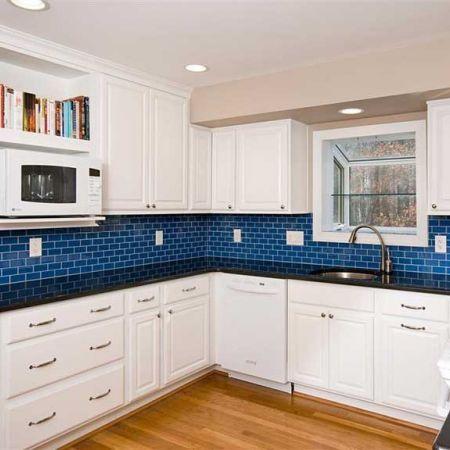 Kitchen Backsplash Blue 26 best fun backsplashes. images on pinterest | glass tiles