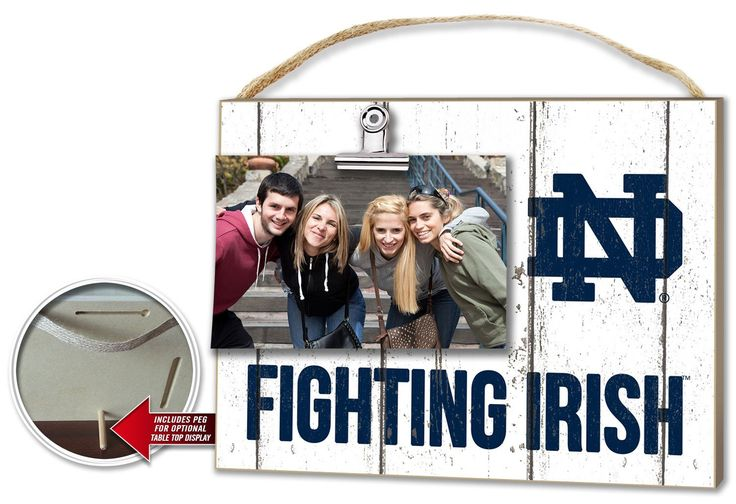 Notre Dame Fighting Irish Clip It Weathered Logo Photo Frame