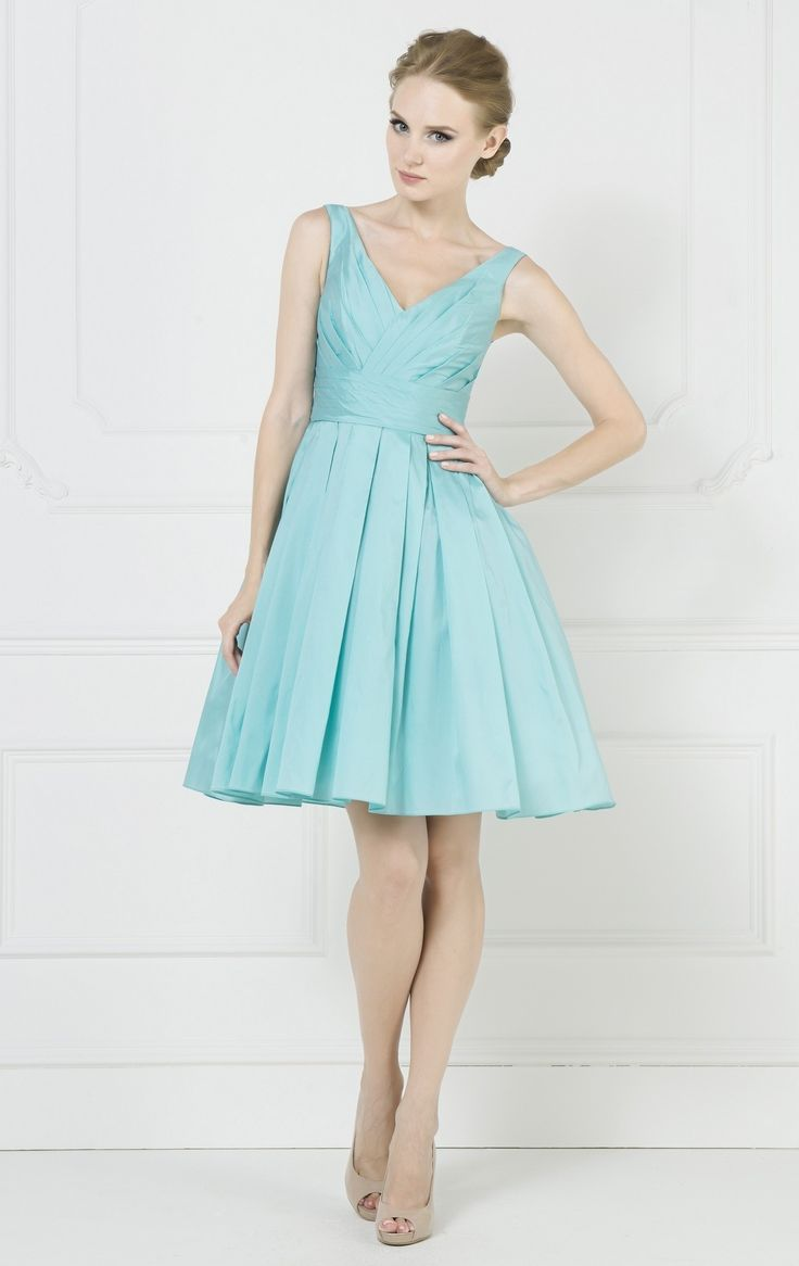 90 best images about top 200 blue bridesmaid dresses on for Blue short wedding dress