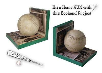 DIY baseball bookends. ~ Mod Podge Rocks! -