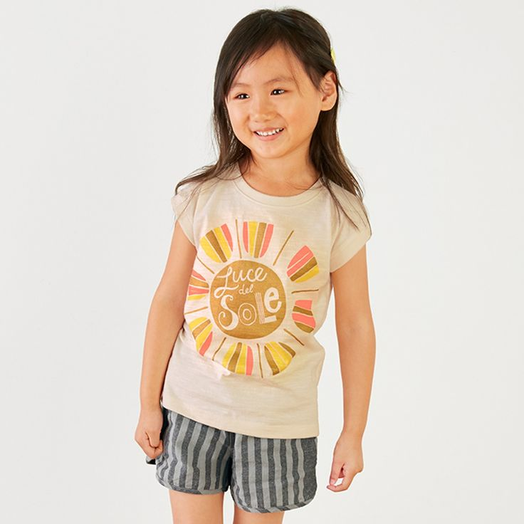 Luce del Sole Graphic Tee | Luce del sole means sunlight in Italian. She'll be walking on sunshine in this bright and brilliant tee.