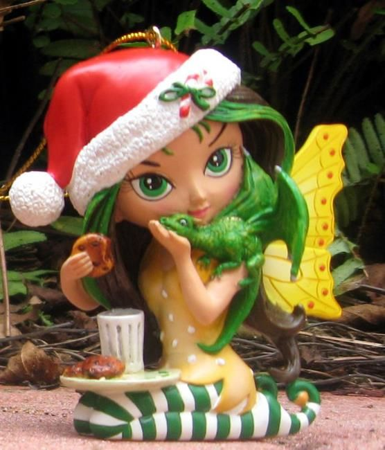 Art ''One for You, Me-and Santa' Bradford Exchange Ornaments' - by Jasmine Ann Becket-Griffith from Sculptures - 3-D Art