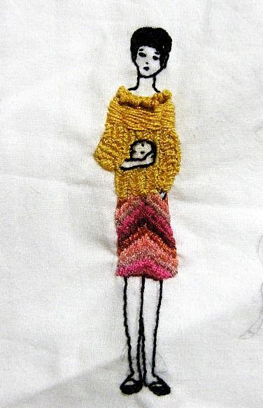 vestida de domingo: bordado