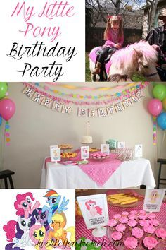 My Little Pony Birthday Party! How cute! Birthday Party Ideas Birthday Party Theme