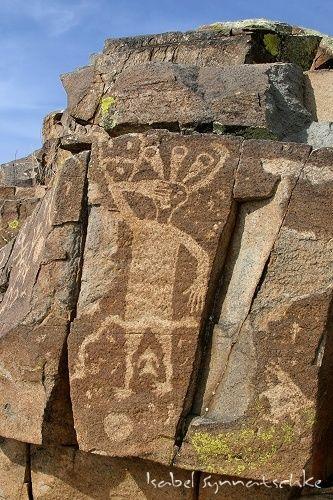 Waving Man petroglyph