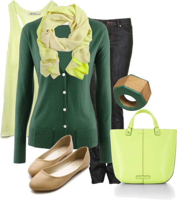 """Yellow & Green"" by lagu on Polyvore"