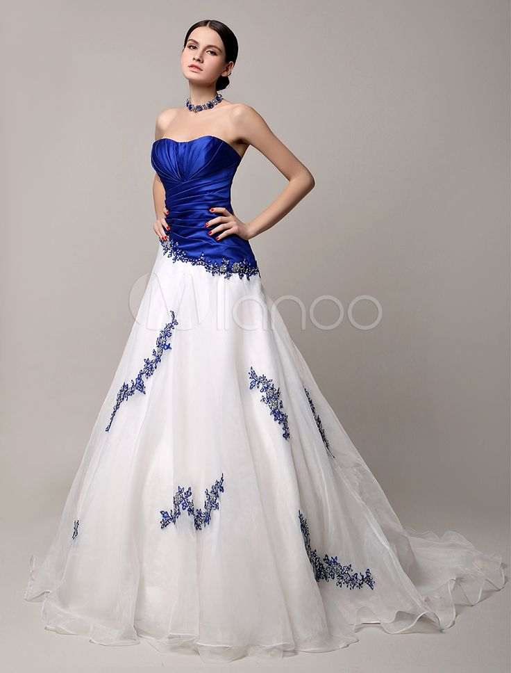 Royal blue, Wedding gowns and Bodice on Pinterest