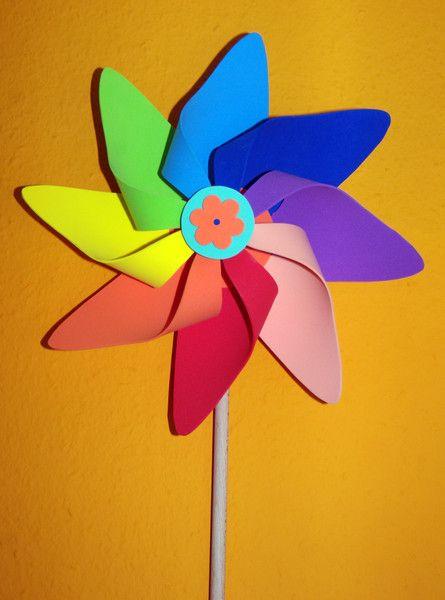 Pflanzen- & Gartenstecker - Windrad aus Moosgummi - ein Designerstück von Connys-basteleck bei DaWanda