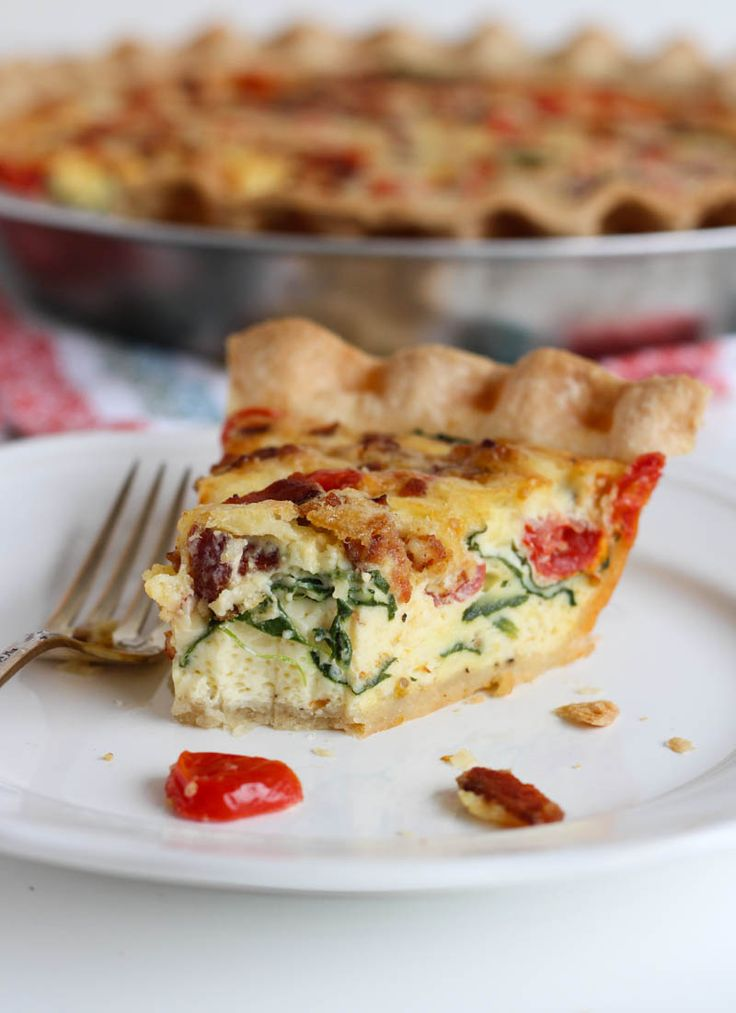 BLT Quiche - tastes just like a BLT sandwich, but with eggs & cheese, of course. It's soooo good!