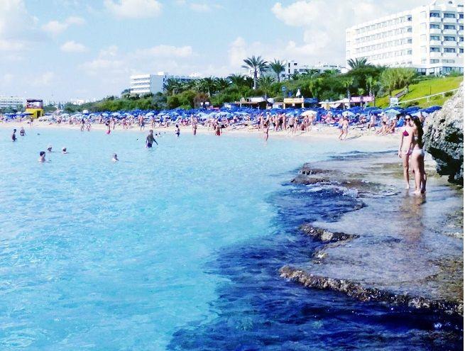 Grecian Bay Beach is considered the main beach in Ayia Napa http://www.grecianbay.com