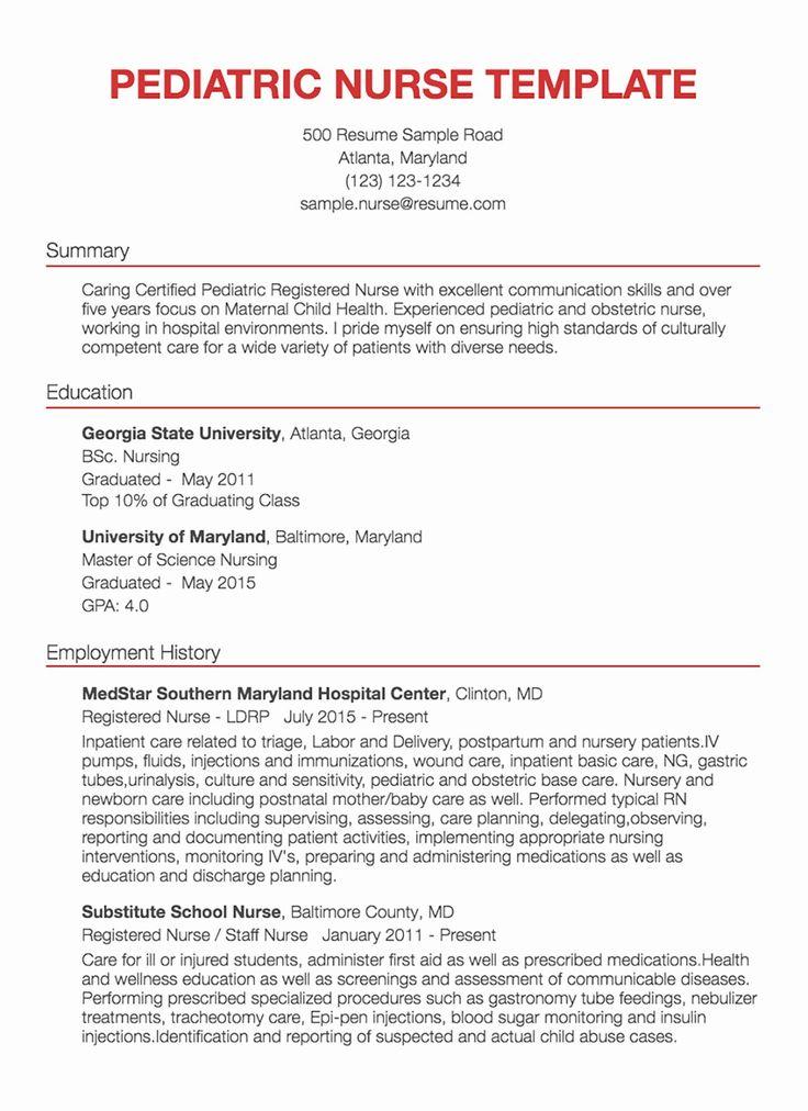 25 Nursing Clinical Experience Resume in 2020 Nursing