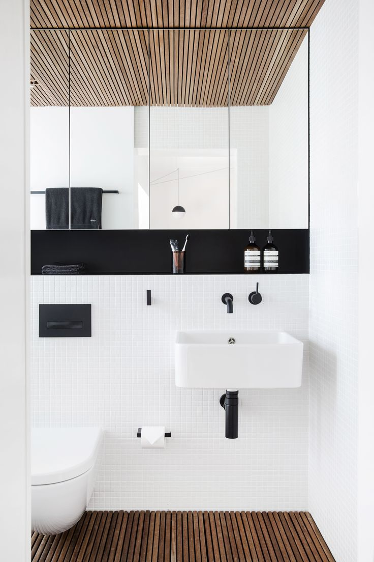 Bathroom layout (not materials) but love the mirror storage