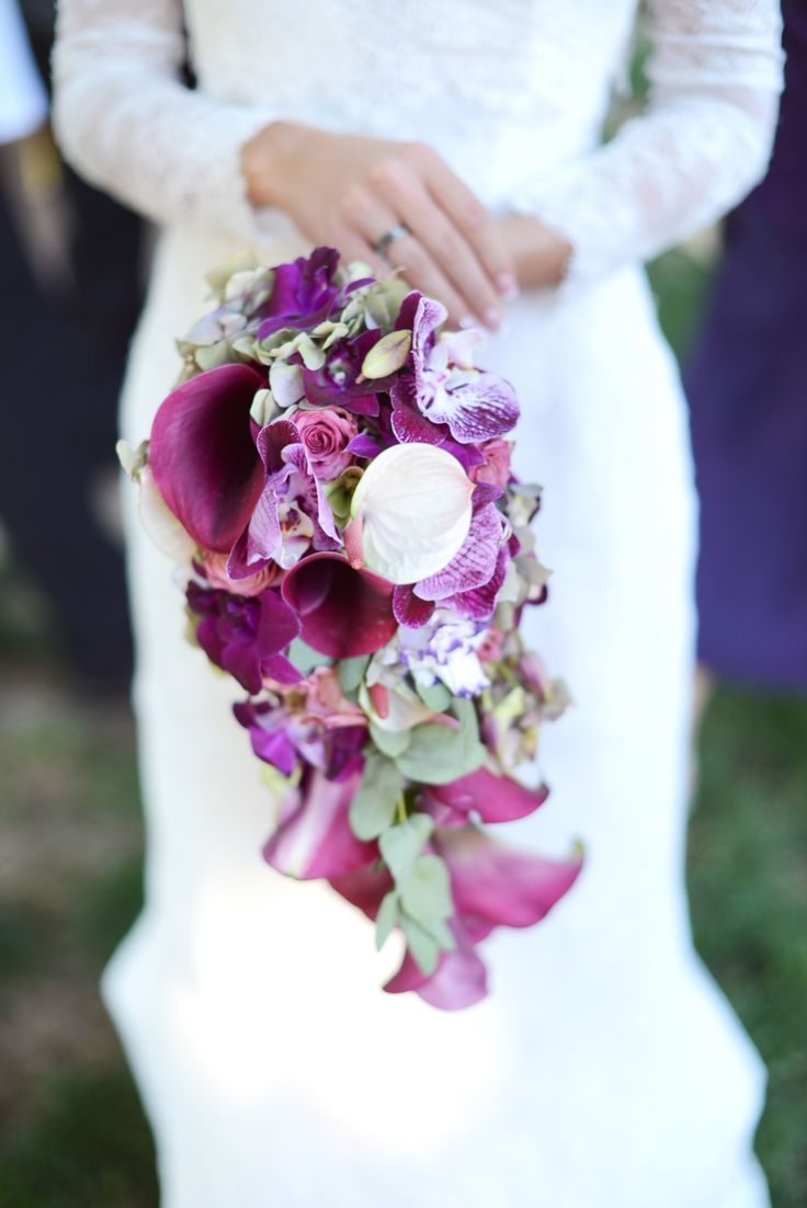 Esküvői csokor inspiráció - ragyogó orchidea 2014 színe  #esküvő #esküvőicsokor