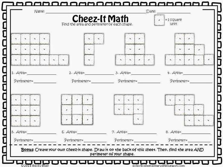 10 Math Worksheets For Grade 7 Perimeter And Area Area