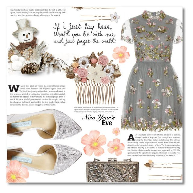"""""""NYE ~Dance party~"""" by dolly-valkyrie ❤ liked on Polyvore featuring Valentino, Betsey Johnson, Mary Frances Accessories, Accessorize and nyestyle"""