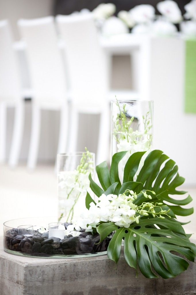 spa inspired bridal shower, los Angeles bridal showers, green and white wedding inspriation