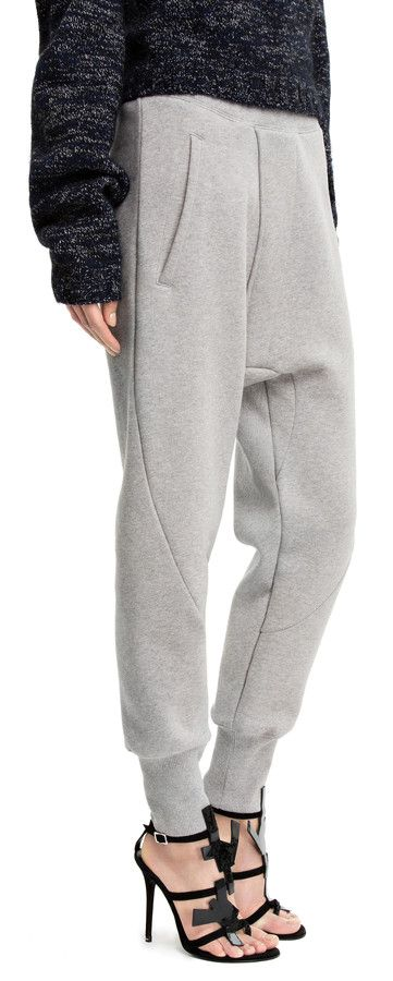 Weld grey melange fleece trousers #AcneStudios #PreFall2014