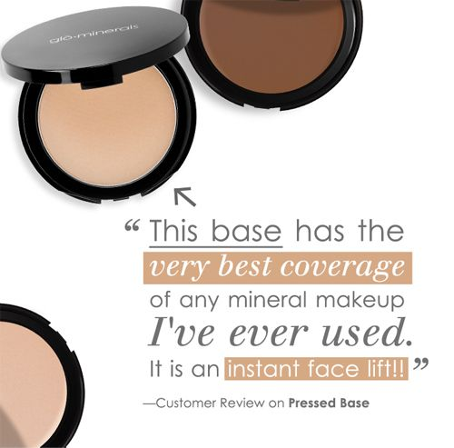 glo minerals Pressed Base.  Best make-up ever! Find it at Glo Medspa