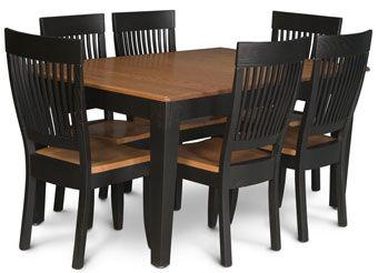 homestead amish 7 piece leg table and side chair set by simply amish at becker furniture world 123 best cottage   kitchen   farm tables images on pinterest      rh   pinterest com