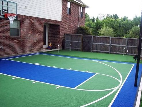 26 best backyard courts images on pinterest backyard backyards and courtyards. Black Bedroom Furniture Sets. Home Design Ideas