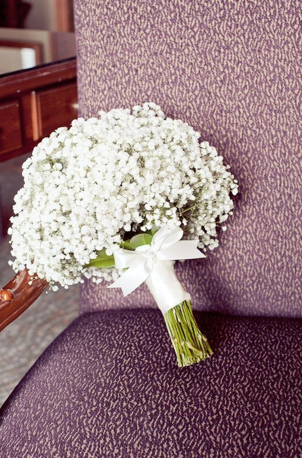 Babies breath wedding bouquet / http://www.deerpearlflowers.com/rustic-budget-friendly-gypsophila-babys-breath-wedding-ideas/2/