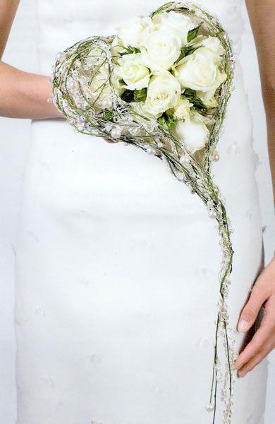 Brautstrauß als Herz