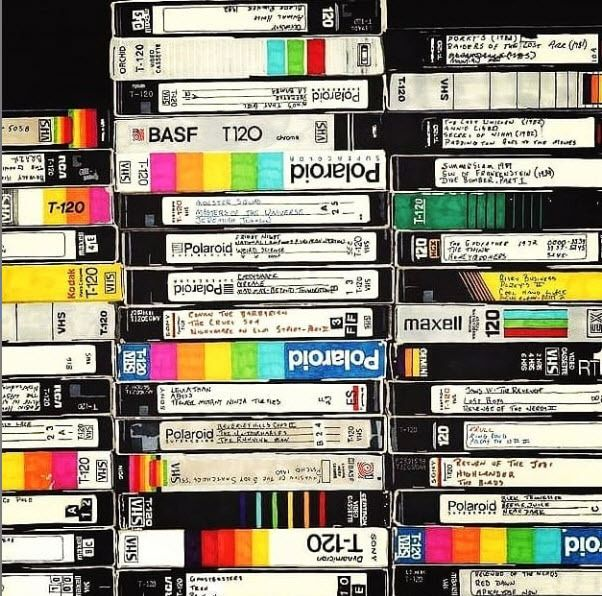 Convert Old Vhs Tapes And Camcorder Tapes To Gidital Format Black Artwork Vhs To Dvd Vhs